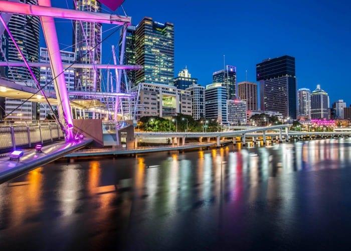 A shot of Brisbane at night