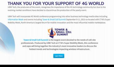 UBM hangs up on 4G World
