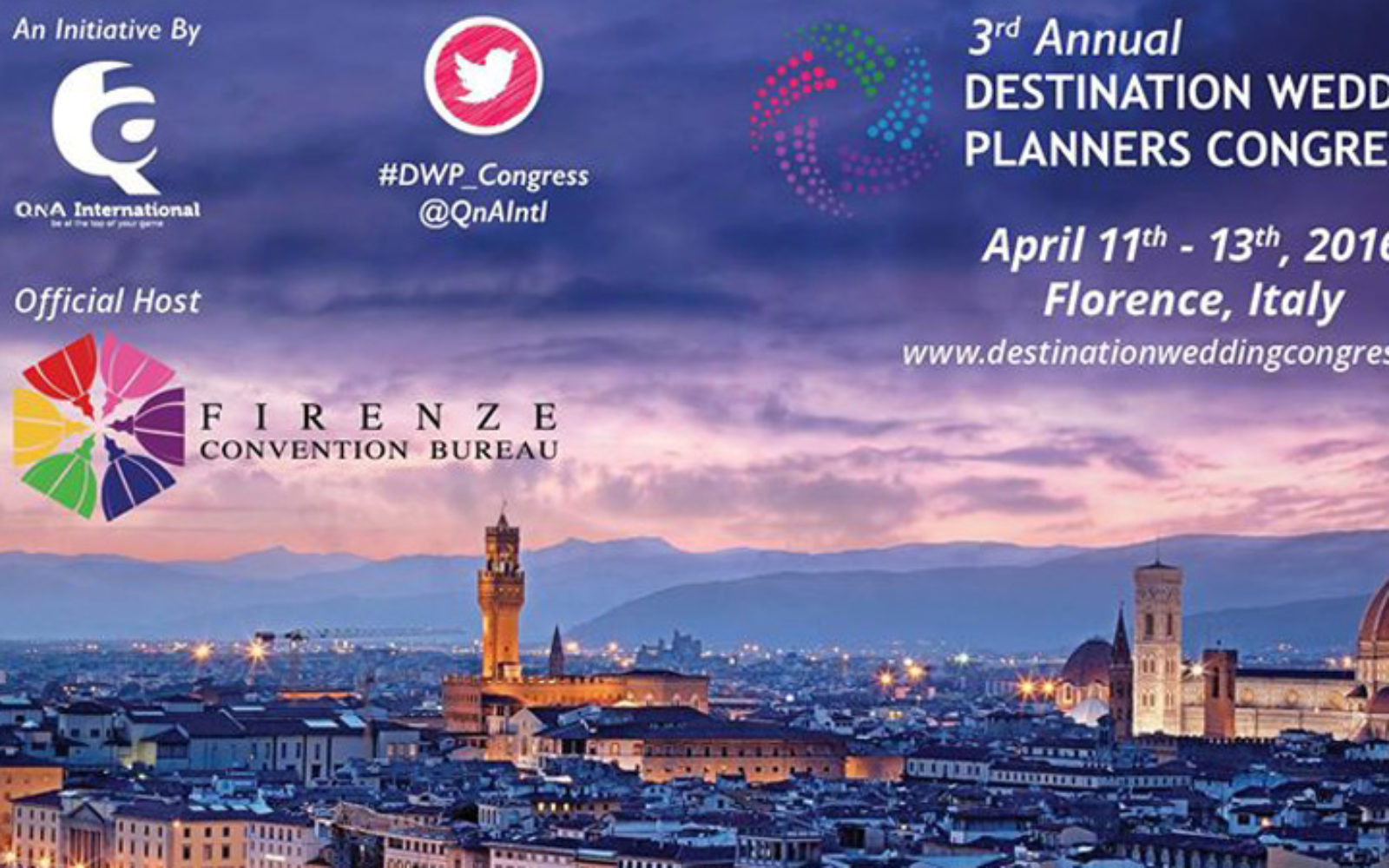 Florence wins Wedding Planners Congress in 2016 - CMW