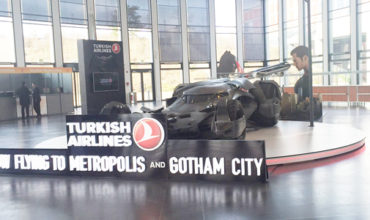 Turkish Airlines showcases the Batmobile at ITB Berlin