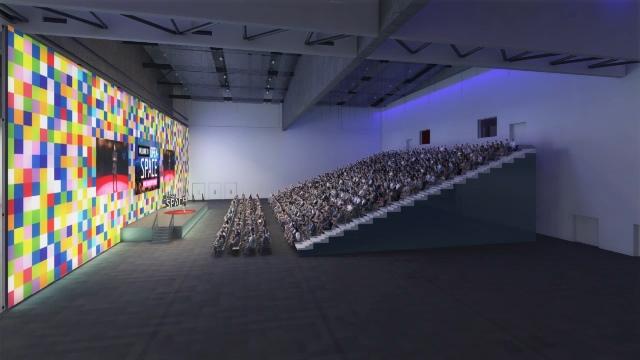 3. MCEC Exhibition Bays retractable seating