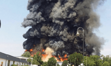 Two arrested over $11m arson attack at Dusseldorf Messe