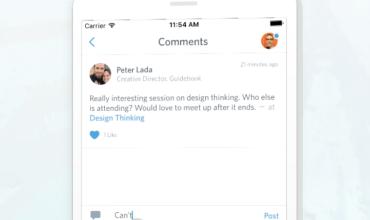 Guidebook adds Facebook-like tool
