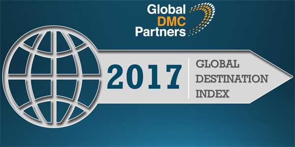 Αποτέλεσμα εικόνας για Global DMC Partners releases 2017 Global Destination Index
