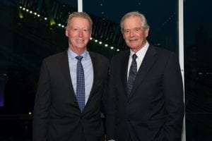 MCEC Chief Executive Peter King and departing Chairman Robert Annells