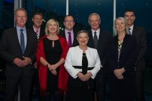 MCEC Executive Team with departing Chairman Robert Annells