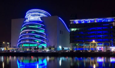 The Convention Centre Dublin flies the flag for Ireland