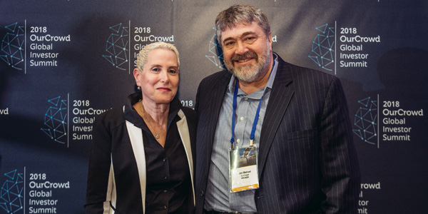 Mira Altman, CEO of ICC Jerusalem with Jonathan Medved CEO and Founder of OurCrowd-CNEW