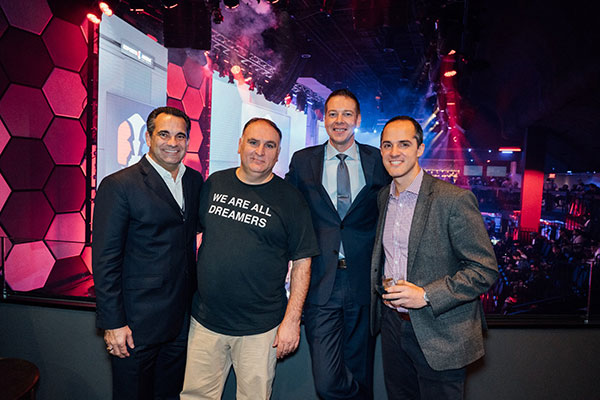 MGM Resorts President of Core Properties Steve Zanella, Chef José Andrés, Luxor Hotel and Casino President and COO Nik Rytterstrom and Allied Esports CEO Jud Hannigan