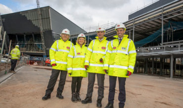 ICC Wales praised by economy secretary ahead of completion