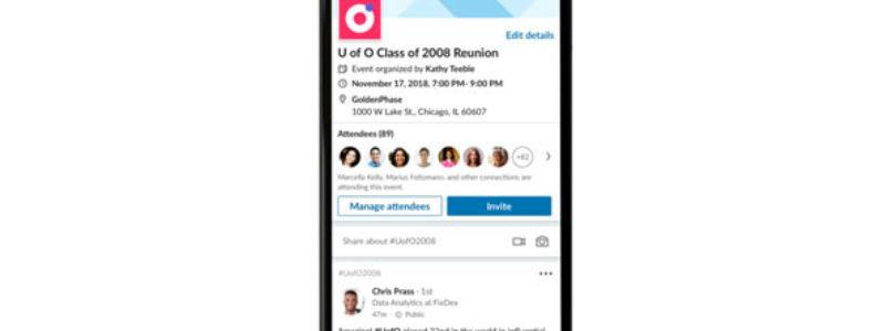 Linkedin launches new platform Linkedin Events