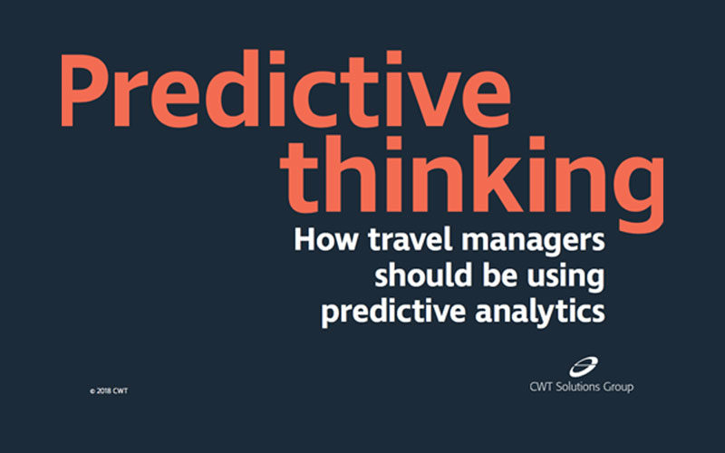 CWT says Predictive Analytics can save 10% on client spend