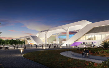 Inside the Dubai Exhibition Centre, host venue of Expo 2020