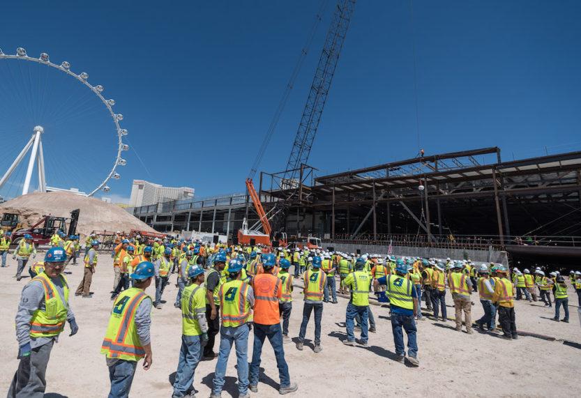 Vegas venue Caesars Forum tops out