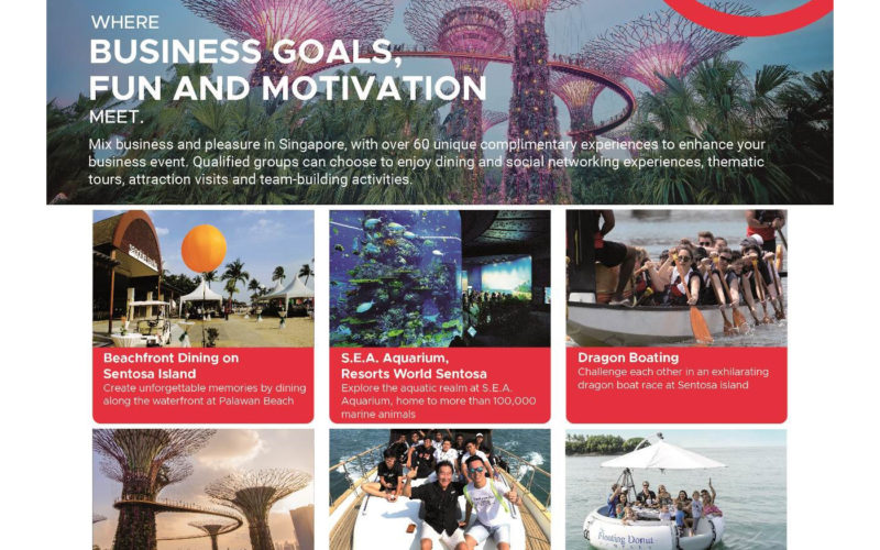 Singapore unveils 60 lifestyle experiences to INSPIRE business groups