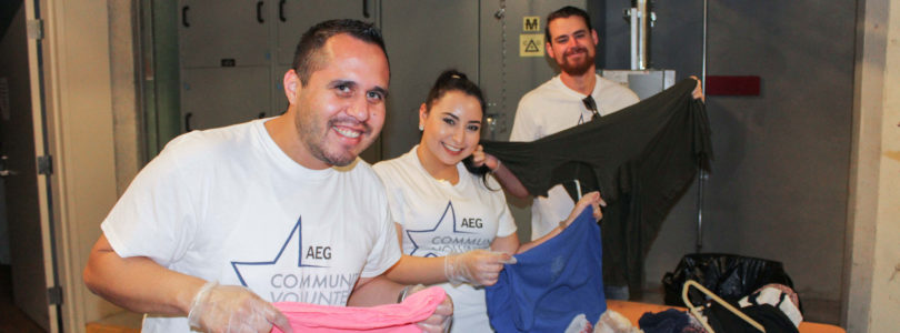 LA Convention Center donates leftover event items and carpets