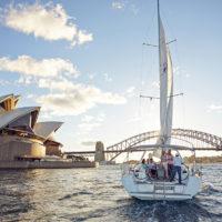 Sailing on Sydney Harbour, Sydney, NSW