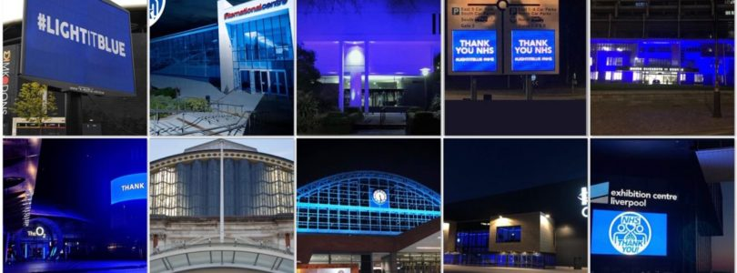 21 venues turned blue in emotional show of support for NHS