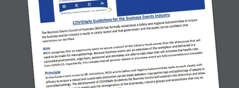 BECA delivers CovidSafe guidelines to Australian government