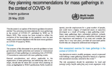 New WHO guidelines issued for 'mass gatherings', but questions remain
