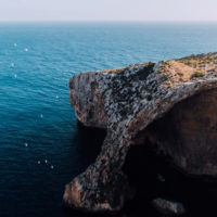 Aerial of Blue Grotto, Malta