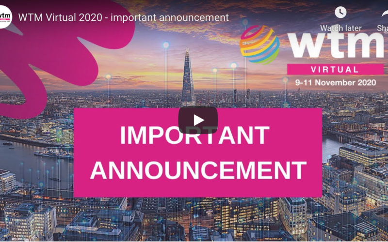 World Travel Market London to go digital-only in November 2020