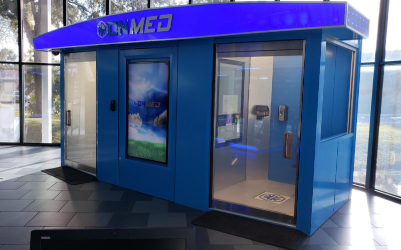 OnMed® unveils telehealth station in Las Vegas Convention Center