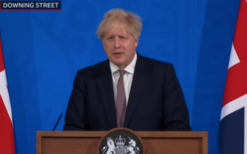 Boris Johnson says government's intent is to resume full capacity events in England from 19 July
